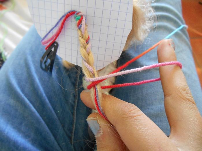 Atébas (tresses brésiliennes)-Le noeud de serrage