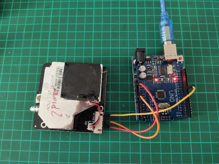 Créer votre capteur de pollution de l'air-Brancher le capteur de particules fines à l'Arduino