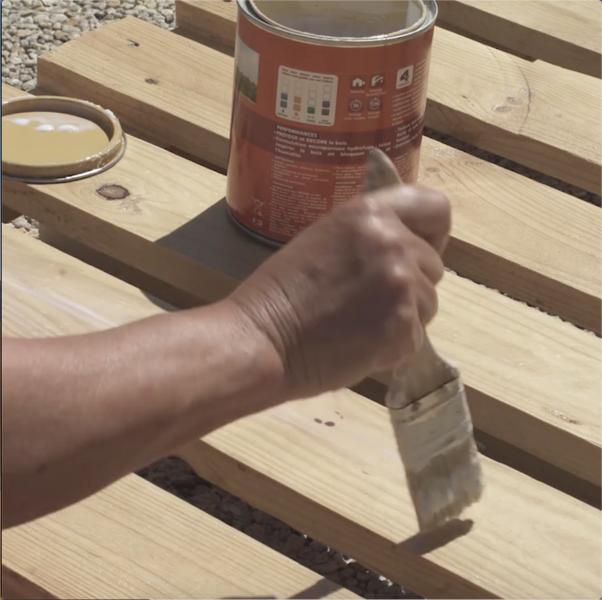 Un mur végétal en palettes-Préparer la palette