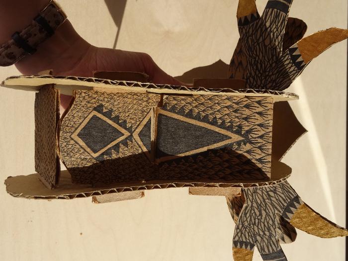 Le trophée cerf en carton incontournable-Assemblage
