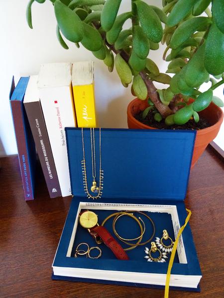 Transformer un vieux livre en boîte à bijoux-Résultat final
