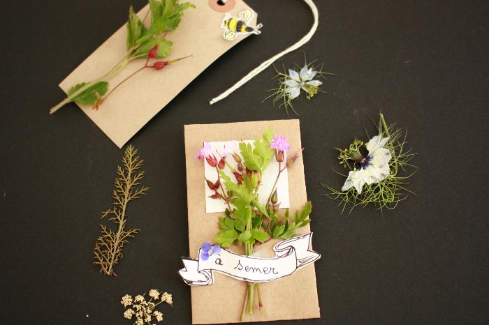 DIY écolo et récup l'autre façon d'offrir des fleurs! -Remplissez avec les graines