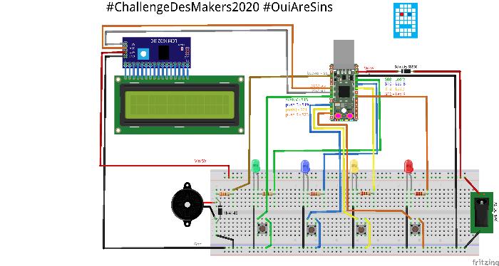 Un boîtier en impression 3D pour le projet #OuiAreSins-Le point de départ, un circuit imprimé nu