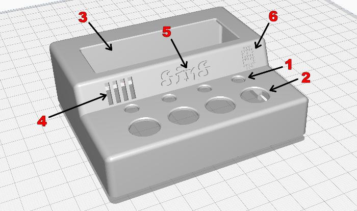 Un boîtier en impression 3D pour le projet #OuiAreSins-Dessin du boîtier
