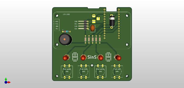 Sins is not Simon: carte électronique du jeux-Si vous voulez réaliser le circuit sur le circuit imprimé