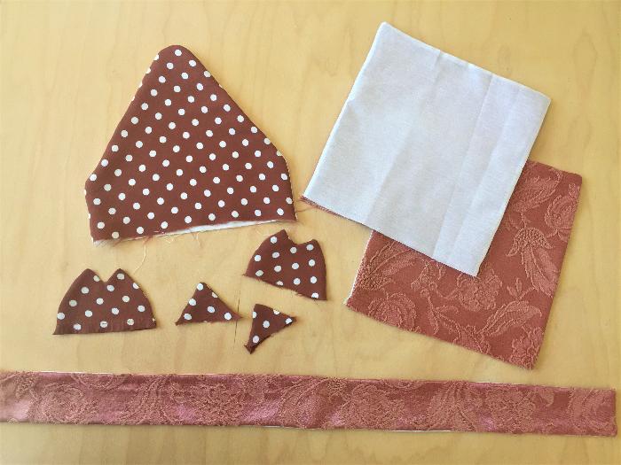 Un sac à dos renardeau en tissu recyclé-Couture des différentes parties