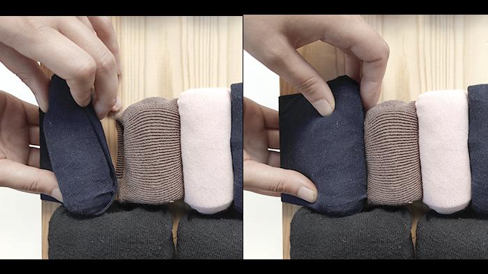 Coussin/Molletonnage déco de chaussettes ! (Version 1 boudins fixes)-Fixation centrale (option 2 sur la profondeur)