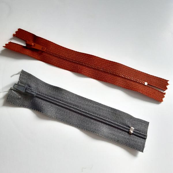 Crochet nomade : le berlingot-Préparer la fermeture éclair