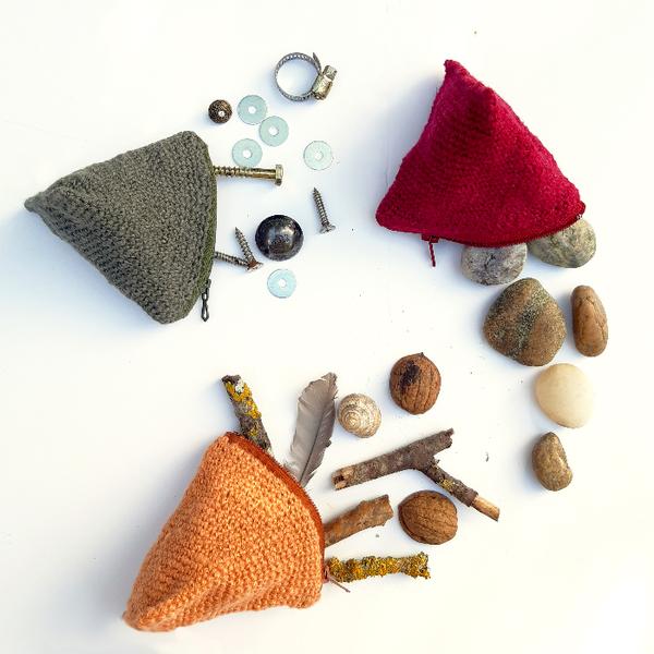 Crochet nomade : le berlingot-Varier les couleurs