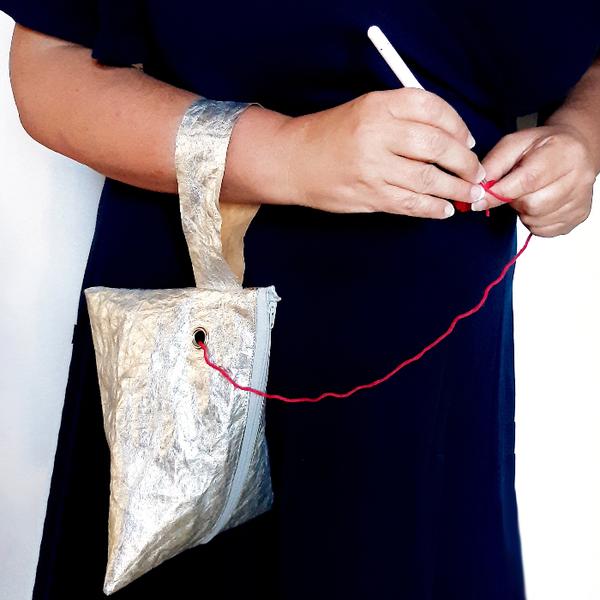 Sac Berlingot pour crochet (ou tricot) vagabond-Vagabonder / Crocheter !