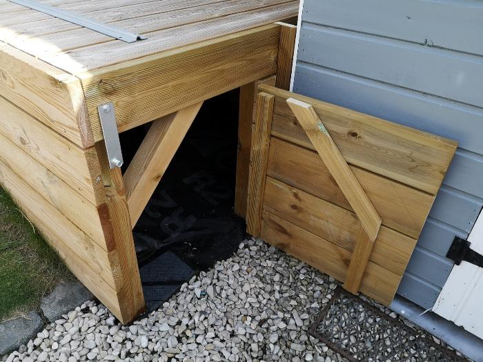 Terrasse pour SPA gonflable, avec couvercle motorisé-Installation du SPA