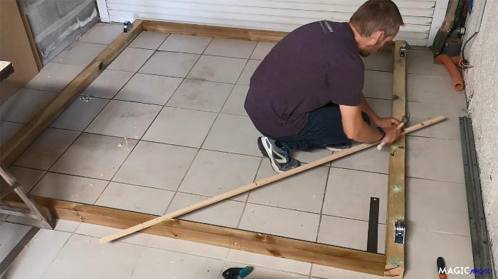 Terrasse pour SPA gonflable, avec couvercle motorisé-Couvercle