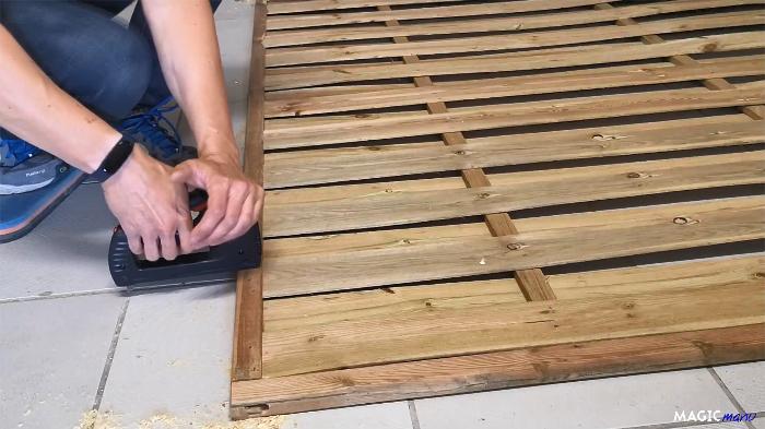 Terrasse pour SPA gonflable, avec couvercle motorisé-Panneaux muraux