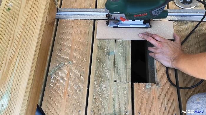 Terrasse pour SPA gonflable, avec couvercle motorisé-Motorisation