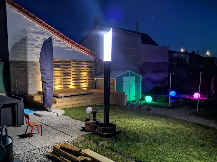 Terrasse pour SPA gonflable, avec couvercle motorisé-Fini !
