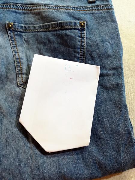 Peinture textile sur poche de jean-La peinture textile c'est pas si difficile