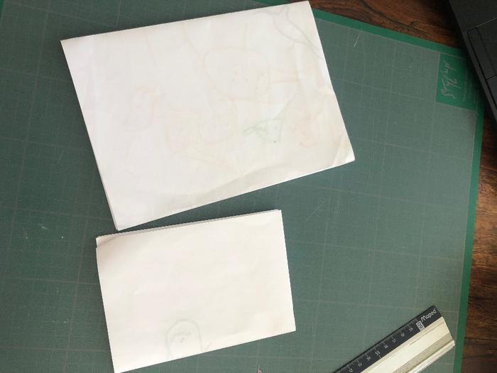 Carnet de notes en papier recyclé-Préparation des feuillets