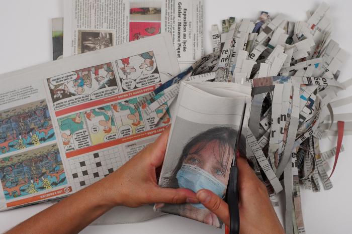 Luminaire en papier mâché-Fabriquer la pâte à papier