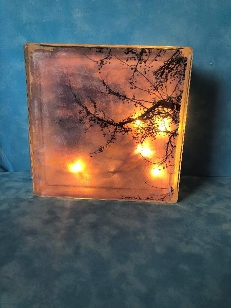 Light Box coucher de soleil-La light box finalisée