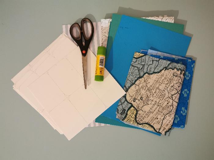 Jeu des 7 familles nomade-Etape 3 : Préparation des dessous de cartes :