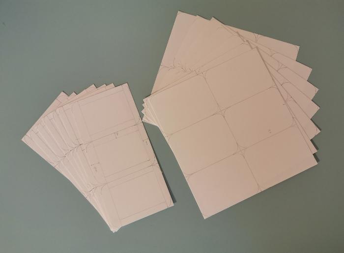 Jeu des 7 familles nomade-Etape 2 : Les tracés des dessous et dessus de cartes