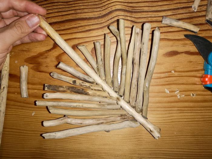 Vide-poche en bois flotté-Assemblez le vide poche