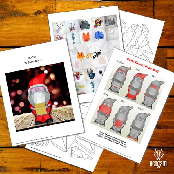 DIY déco de Noël en papier-Imprime le / les patron(s) de ton choix