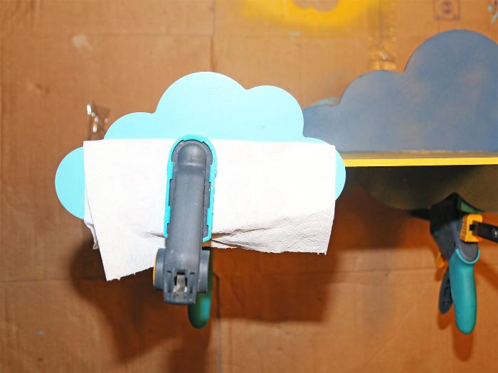 Etagère décorative nuages-Ajouter l'autre nuage