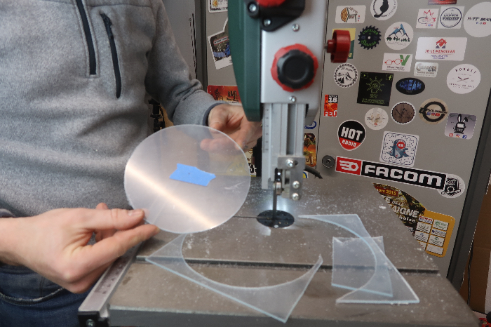 Créer une mangeoire barrique-Préparation des Plexiglass