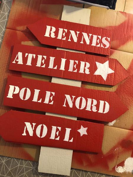 DIY: Panneau directionnel de Noël -Assemblage de la pancarte