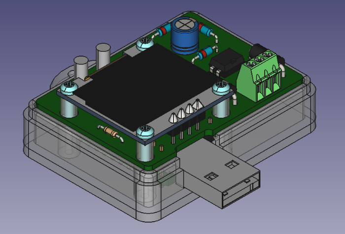 Affichage déporté compteur linky: boîtier et carte-Impression 3D du boîtier