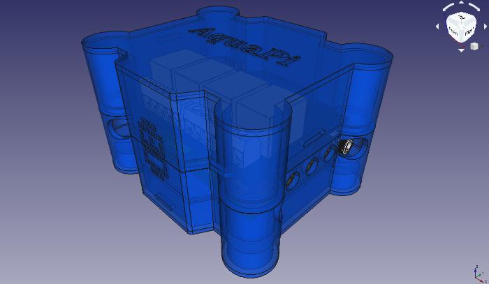 DIY Monitoring Aquarium connecté - AquaPi-Boitier imprimé 3D