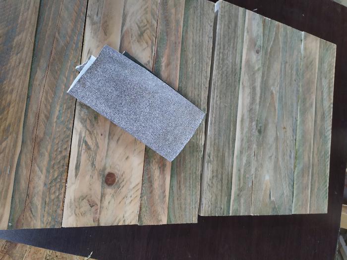 Une table de chevet sans clou ni vis -Nettoyer la colle et faire des trous
