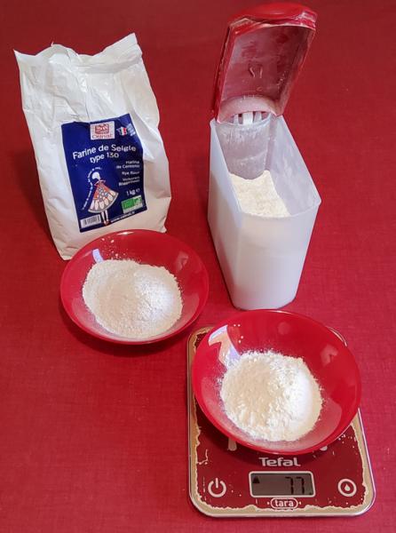 Un pain d'épice moelleux-Préparer la partie sèche