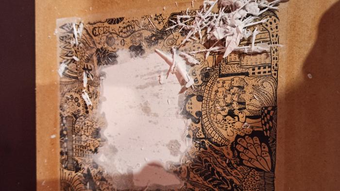 Transfert d'une image sur un support (bois ou toile)-Révélation et finitions