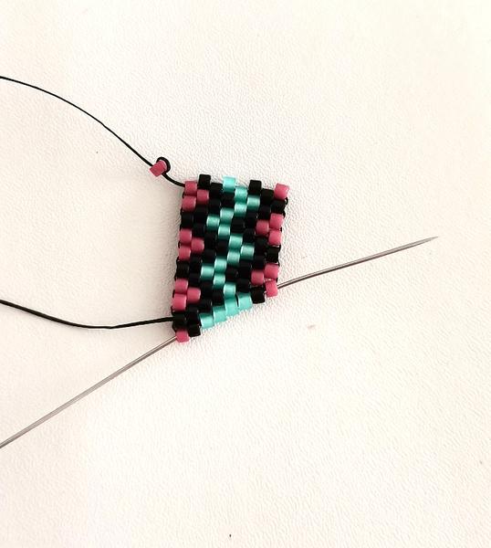 Bracelet ZigZag en Perles Miyuki-Point d'arrêt