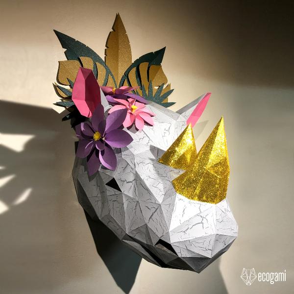 Assemble ton rhino en papier-Personnaliser la Sculpture