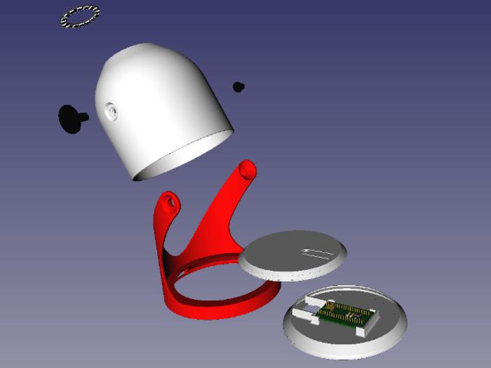 Lampe de chevet ambiances colorées DIY-Impression 3D