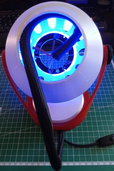 Lampe de chevet ambiances colorées DIY-Racordement électrique