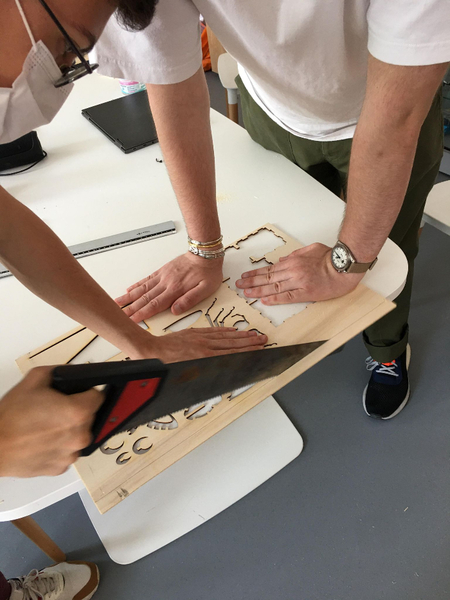 Créer le coffre du jeu-La découpe des pièces de bois