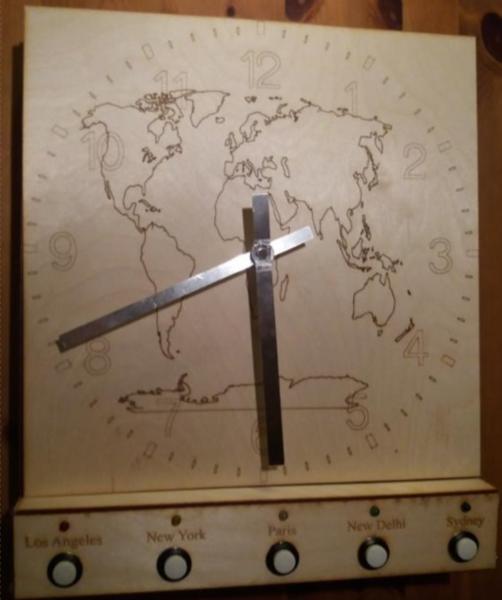 Création de l'horloge en bois Dingo'clock-Assemblage
