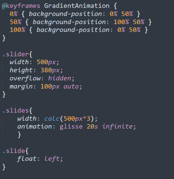 Portfolio web CSS-Le slider de la page d'accueil