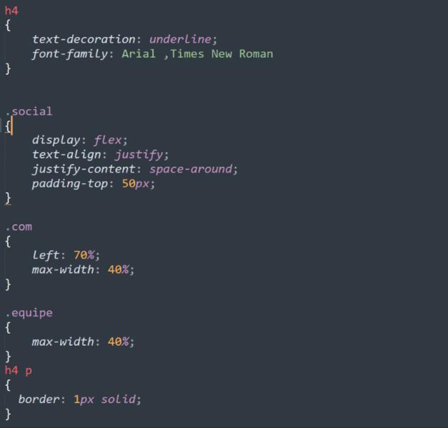 Portfolio web CSS-La page compétences