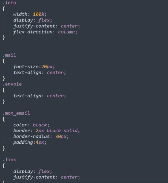 Portfolio web CSS-La page contact