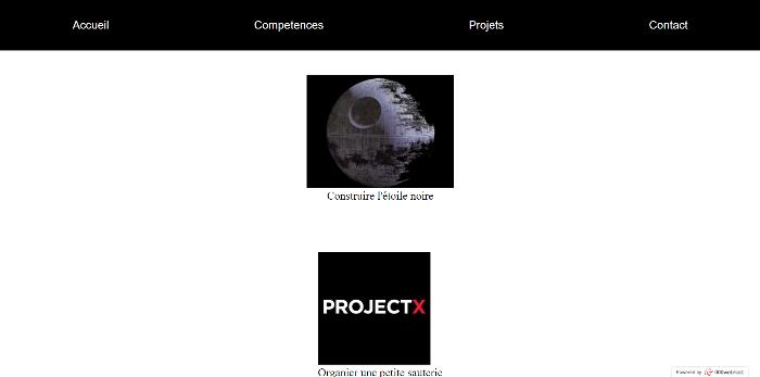 Portfolio web CSS-La page projet