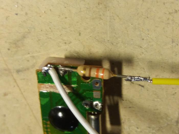 Partie électronique de la Dingo'clock-Soudure bobine-résistance-carte Arduino