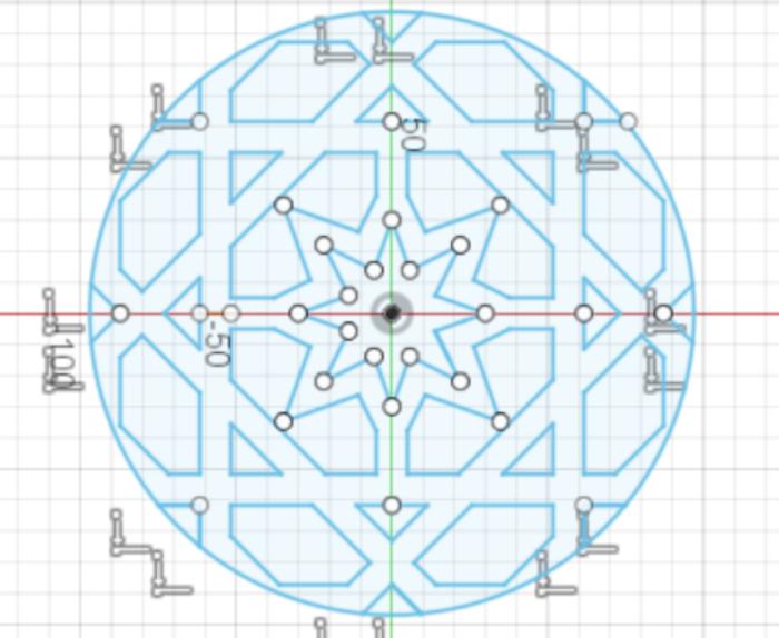 LED O'clock P3-La rosace