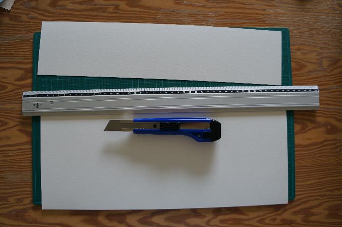 Livret d'art en accordéon 100% personnalisable -Découpe de la feuille A3