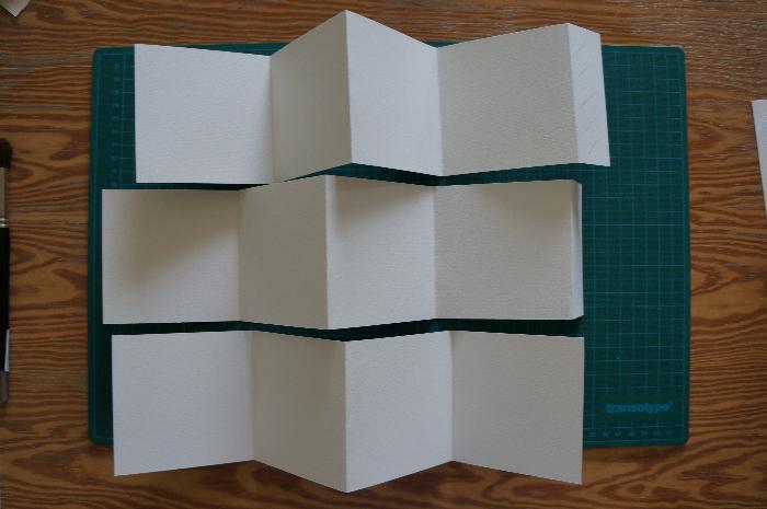 Livret d'art en accordéon 100% personnalisable -Pliage en accordéon