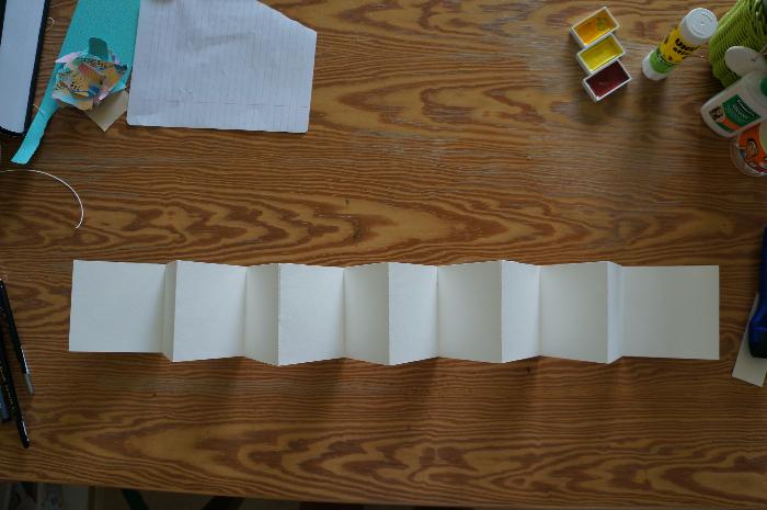 Livret d'art en accordéon 100% personnalisable - Assemblage des accordéons